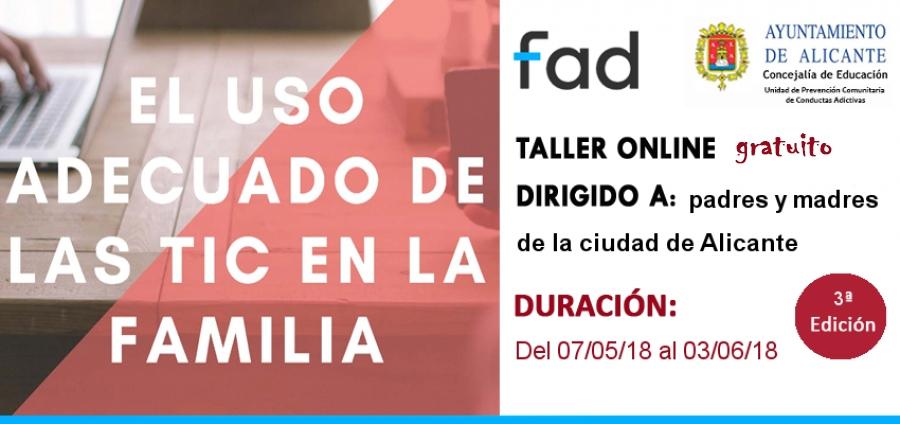 Banner online En Familia FAD TIC Ayto Alicante
