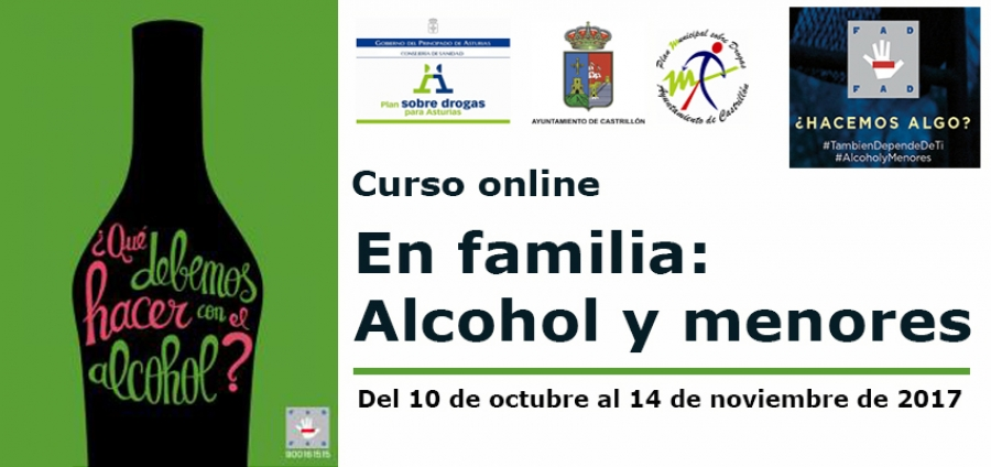 Curso online en familia alcohol y menores